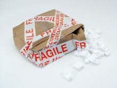 Damaged Parcel. Delivery Company, Yodel.