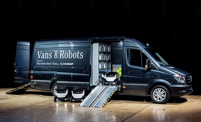 Mercedes vans filled with swarming delivery bots could be heading to your hometown