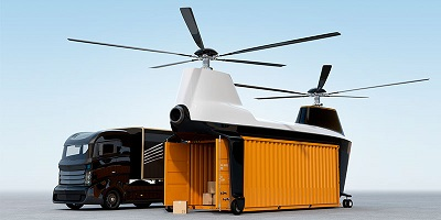 Container delivery drone