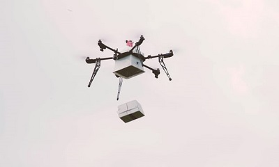 Medical courier delivery drone